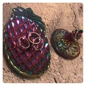 Jewelry - 🍍pineapple jewelry dish and ring holder colorful
